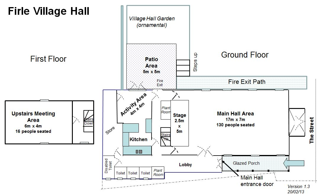 Firle Village Hall Plan